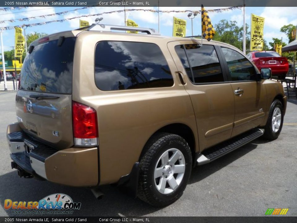 2005 nissan armada le sahara gold sand photo 6. Black Bedroom Furniture Sets. Home Design Ideas
