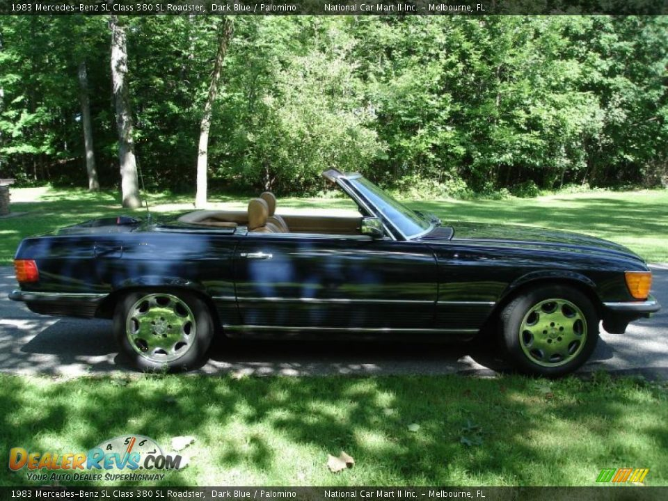 1983 mercedes benz sl class 380 sl roadster dark blue palomino photo 9. Black Bedroom Furniture Sets. Home Design Ideas