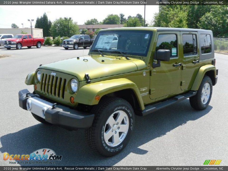 Rescue Green Jeep >> 2010 Jeep Wrangler Unlimited Sahara 4x4 Rescue Green ...