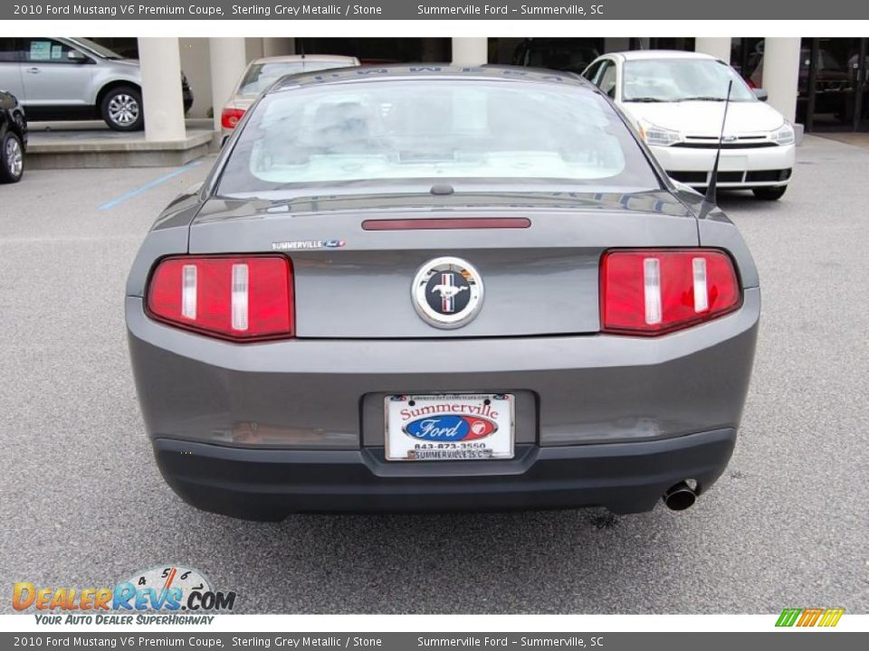 2010 ford mustang v6 premium coupe sterling grey metallic stone. Black Bedroom Furniture Sets. Home Design Ideas