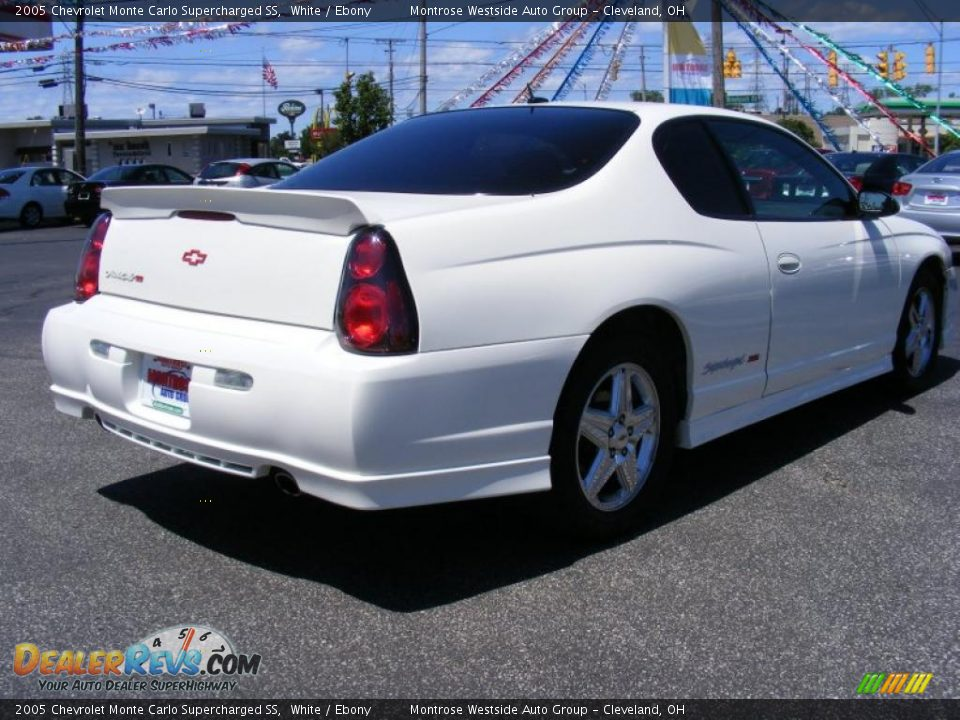 2005 chevrolet monte carlo supercharged ss white ebony photo 5. Black Bedroom Furniture Sets. Home Design Ideas