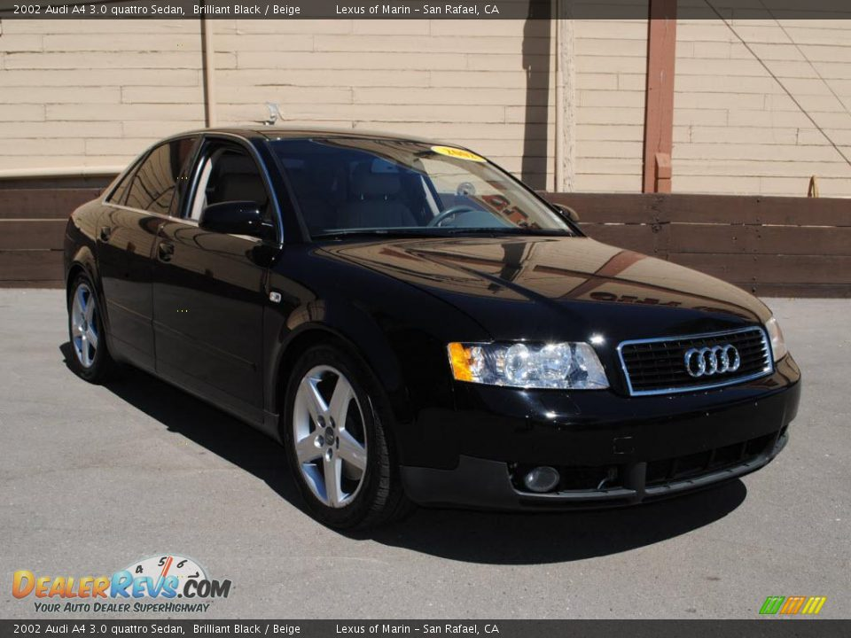 2002 audi a4 3 0 quattro sedan brilliant black beige. Black Bedroom Furniture Sets. Home Design Ideas