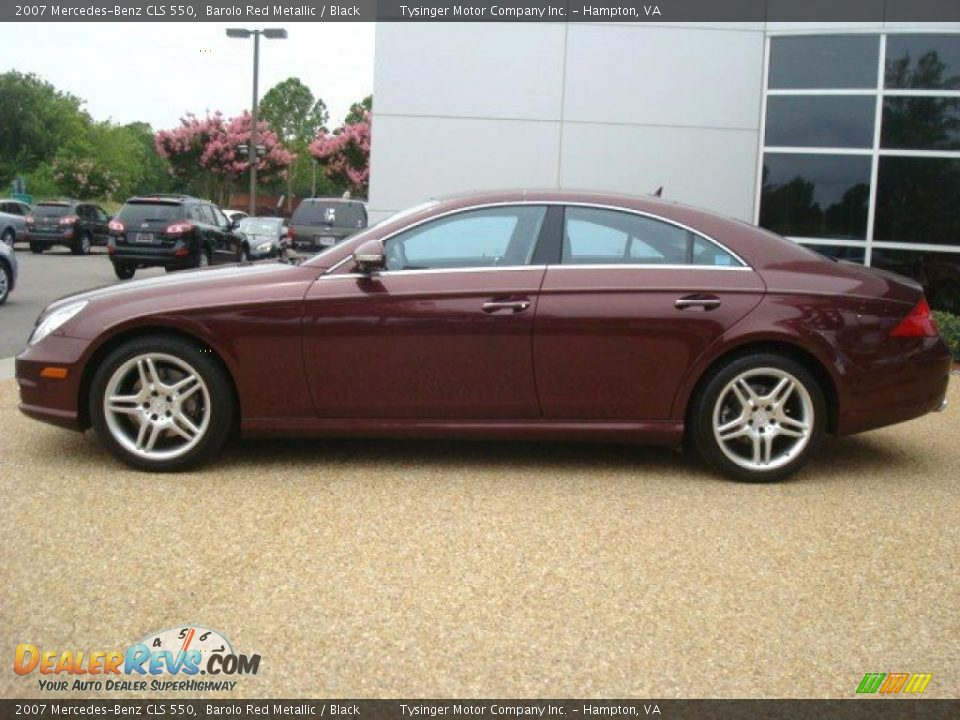2007 Mercedes-Benz CLS 550 Barolo Red Metallic / Black Photo #3