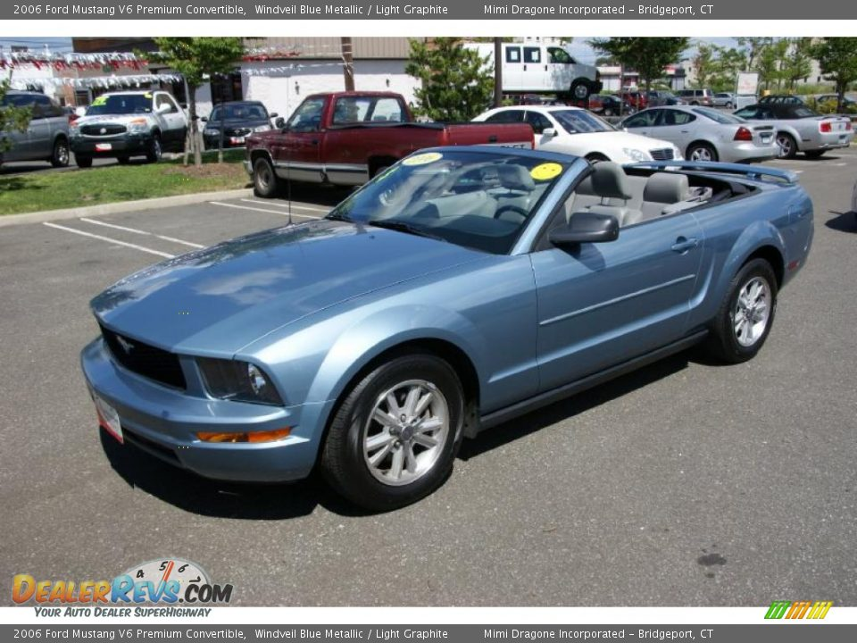 2006 Ford Mustang V6 Premium Convertible Windveil Blue