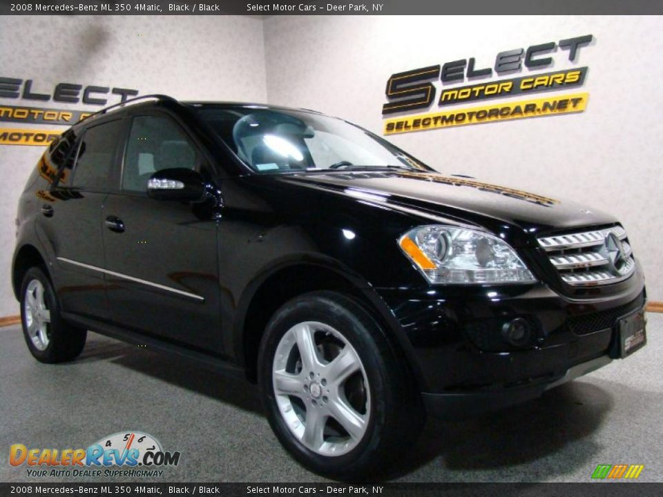 2008 mercedes benz ml 350 4matic black black photo 3 for Mercedes benz ml 350 2008