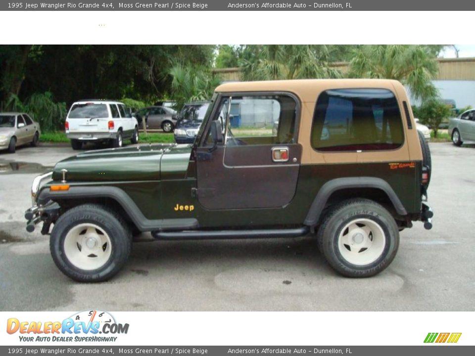 1995 jeep wrangler rio grande 4x4 moss green pearl spice. Black Bedroom Furniture Sets. Home Design Ideas