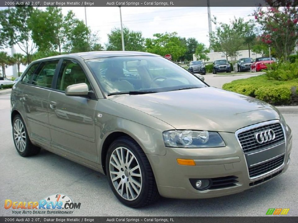 2006 Audi A3 2 0t Dakar Beige Metallic Beige Photo 8