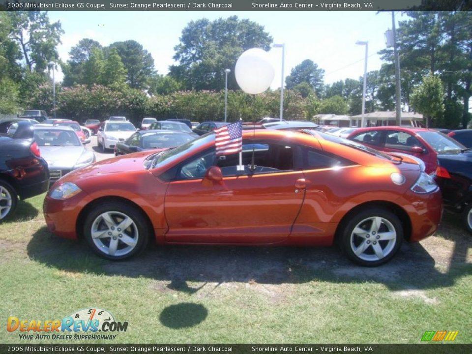 2006 Mitsubishi Eclipse GS Coupe Sunset Orange Pearlescent / Dark Charcoal Photo #2 | DealerRevs.com