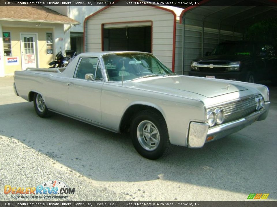1963 Lincoln Continental Custom Funeral Flower Car Silver