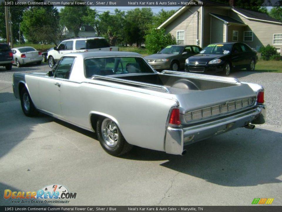 1963 Lincoln Continental Custom Funeral Flower Car Silver Blue