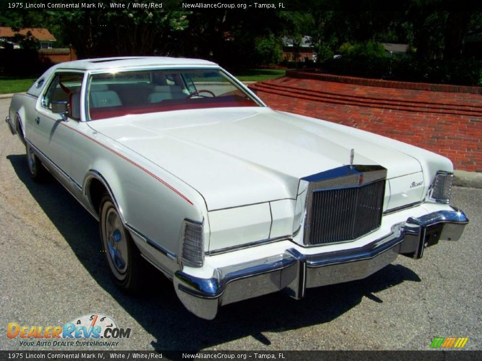 1975 lincoln continental mark iv white white red photo 17. Black Bedroom Furniture Sets. Home Design Ideas
