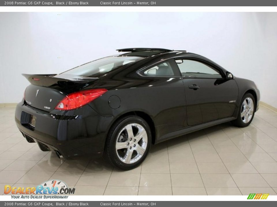 2008 Pontiac G6 Gxp Coupe Black Ebony Black Photo 6