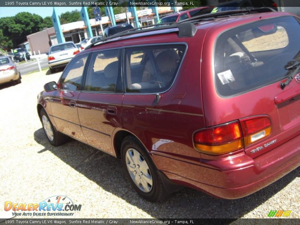 1995 toyota camry le v6 wagon sunfire red metallic gray photo 6