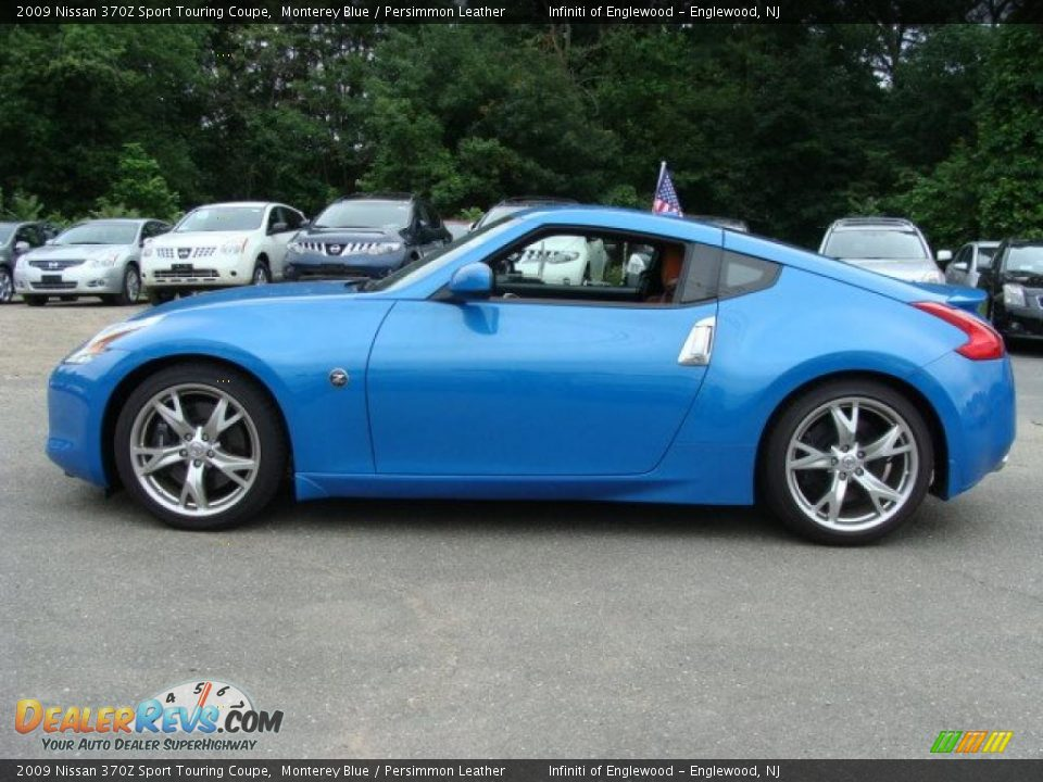 2009 nissan 370z sport touring coupe monterey blue persimmon leather photo 8 - Nissan 370z touring coupe ...