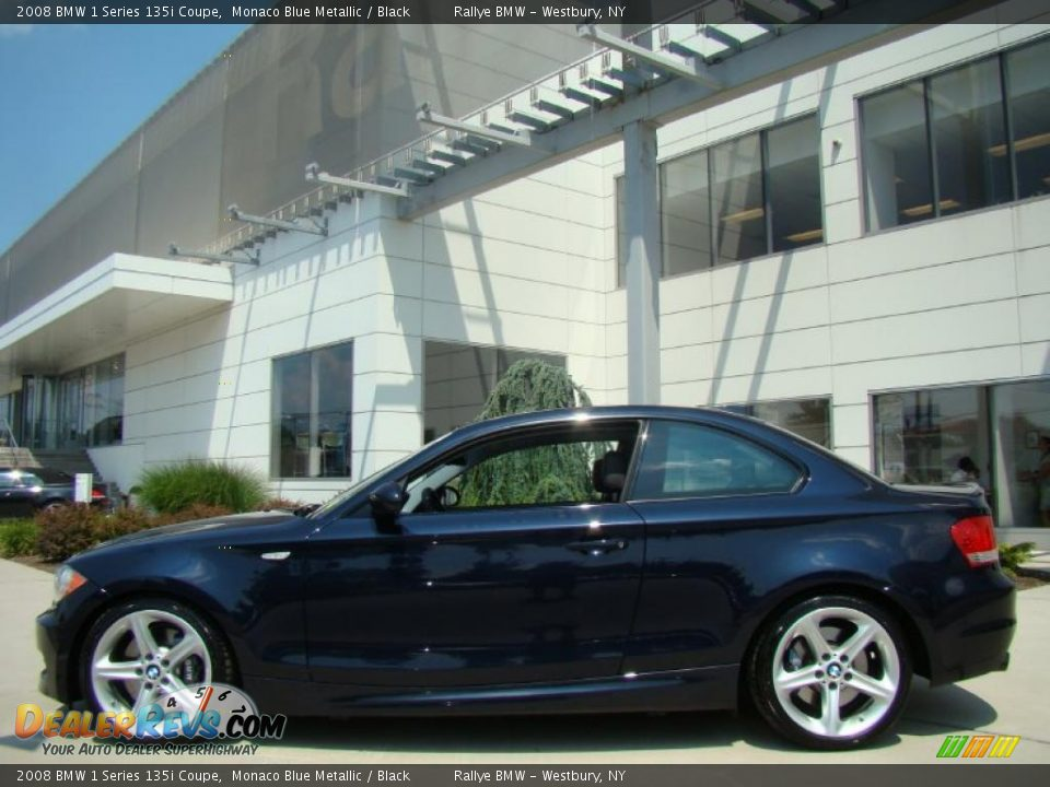 2008 Bmw 1 Series 135i Coupe Monaco Blue Metallic Black