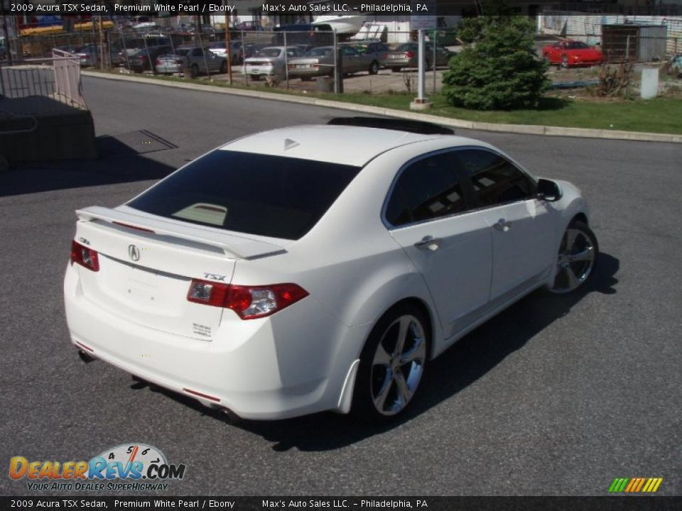 2009 acura tsx sedan premium white pearl ebony photo 15 dealerrevs com
