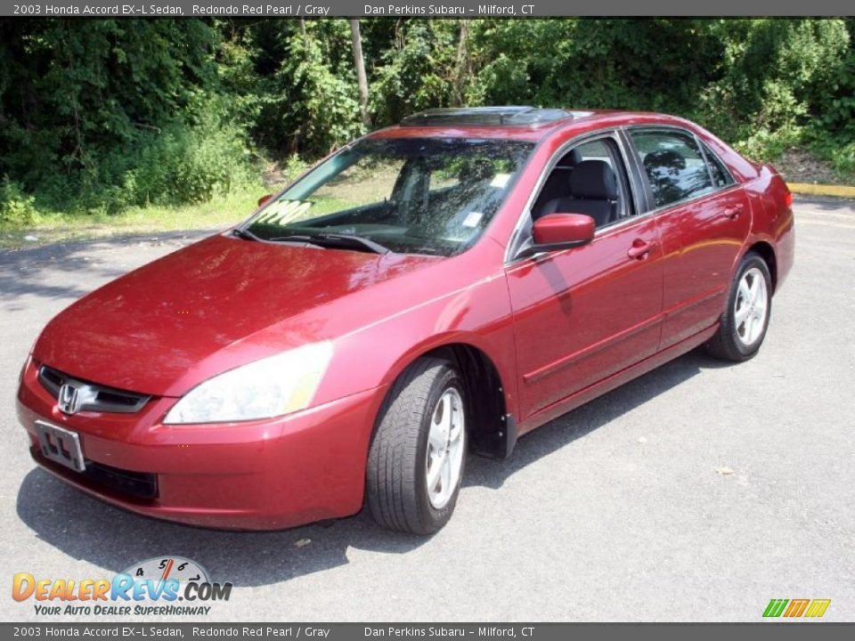 2003 honda accord ex l sedan redondo red pearl gray photo 1. Black Bedroom Furniture Sets. Home Design Ideas