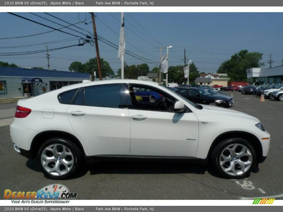 2010 Bmw X6 Xdrive35i Alpine White Black Photo 13