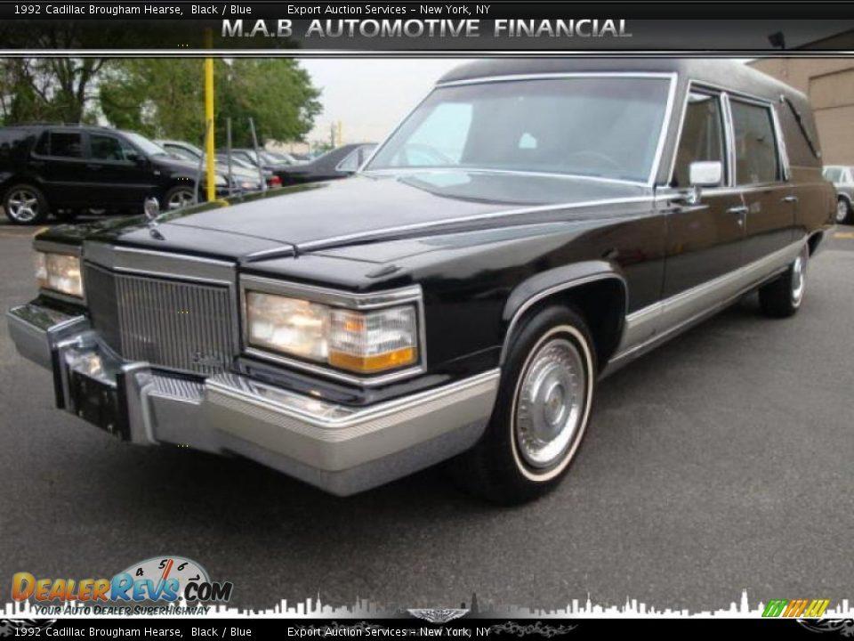 1992 Cadillac Brougham Hearse Black / Blue Photo #2 ...