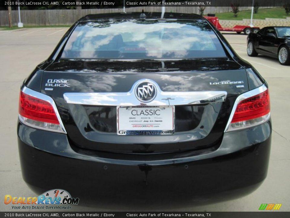 2010 Buick LaCrosse CXL AWD Carbon Black Metallic / Ebony Photo #6 ...