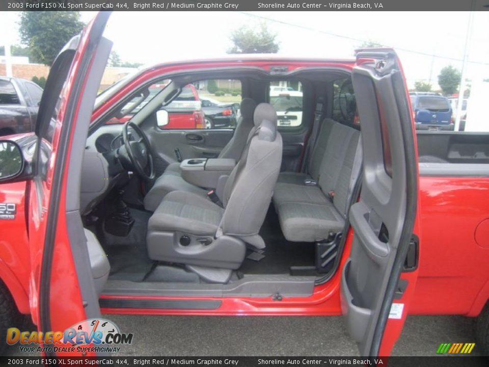 2003 Ford F150 XL Sport SuperCab 4x4 Bright Red / Medium Graphite Grey ...