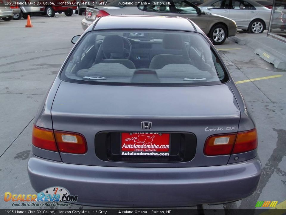 1995 Honda Civic DX Coupe Horizon Grey Metallic / Grey ...