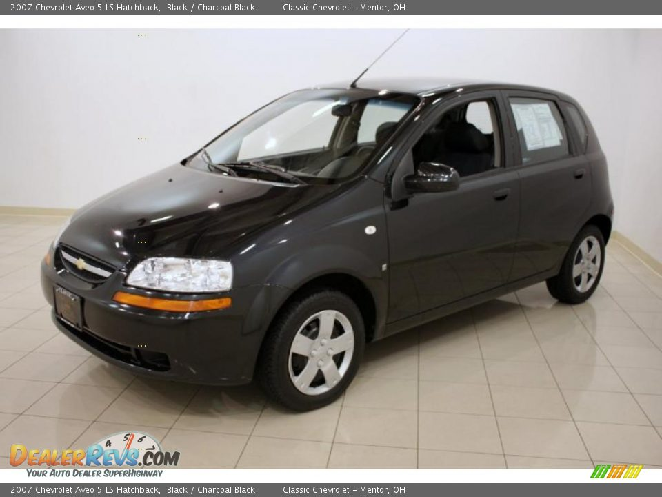 2007 chevrolet aveo 5 ls hatchback black charcoal black. Black Bedroom Furniture Sets. Home Design Ideas