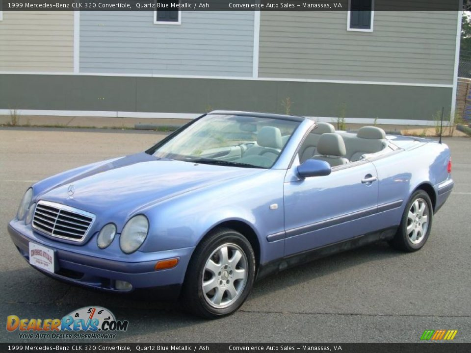 1999 mercedes benz clk 320 convertible quartz blue metallic ash photo 11. Black Bedroom Furniture Sets. Home Design Ideas