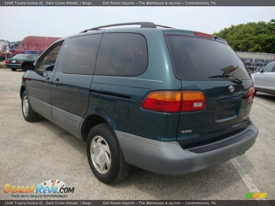 1998 Toyota Sienna Le Dark Green Metallic Beige Photo