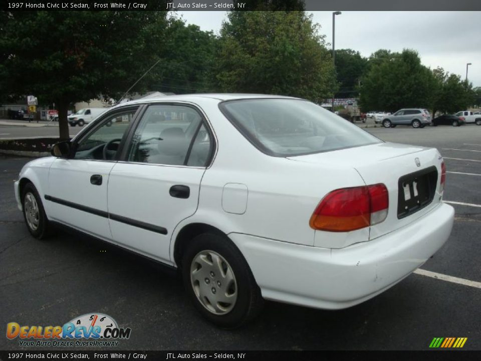 1997 honda civic lx sedan frost white gray photo 4. Black Bedroom Furniture Sets. Home Design Ideas