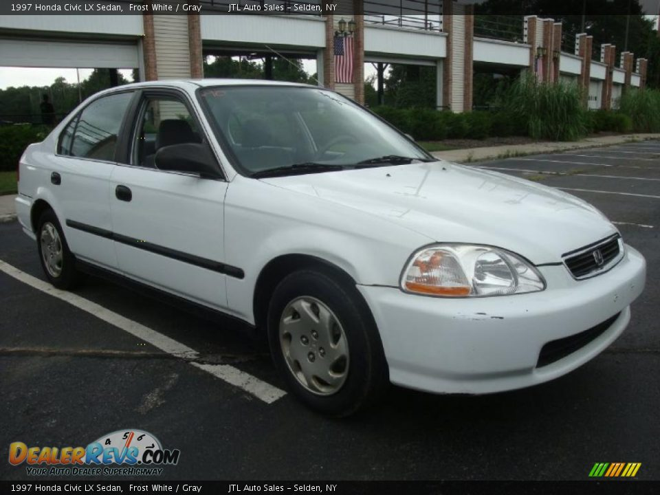 1997 honda civic lx sedan frost white gray photo 8. Black Bedroom Furniture Sets. Home Design Ideas