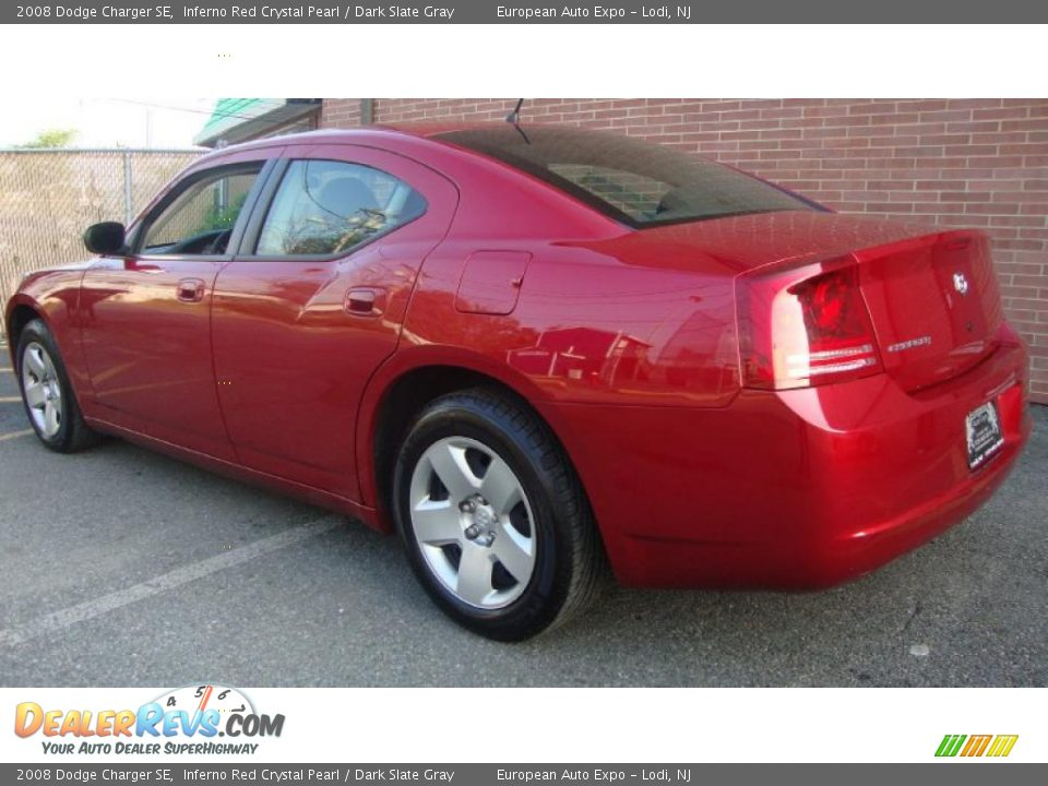 2008 Dodge Charger Se Inferno Red Crystal Pearl Dark
