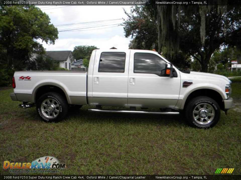 2008 ford f250 super duty king ranch crew cab 4x4 oxford white camel chaparral leather photo. Black Bedroom Furniture Sets. Home Design Ideas