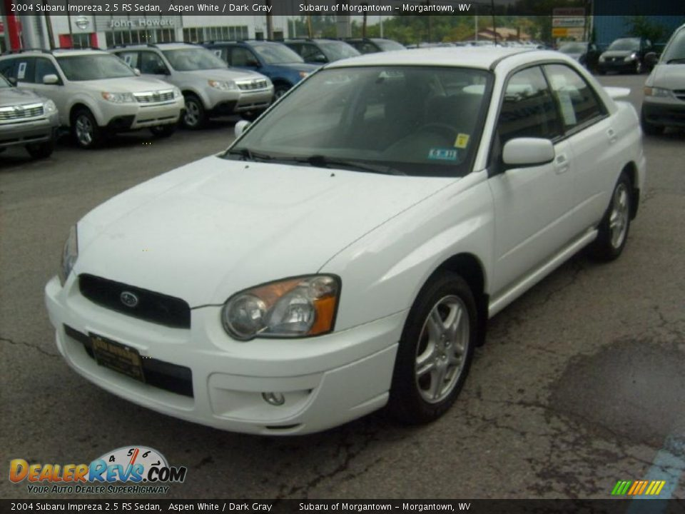 2004 subaru impreza 2 5 rs sedan aspen white dark gray photo 3. Black Bedroom Furniture Sets. Home Design Ideas