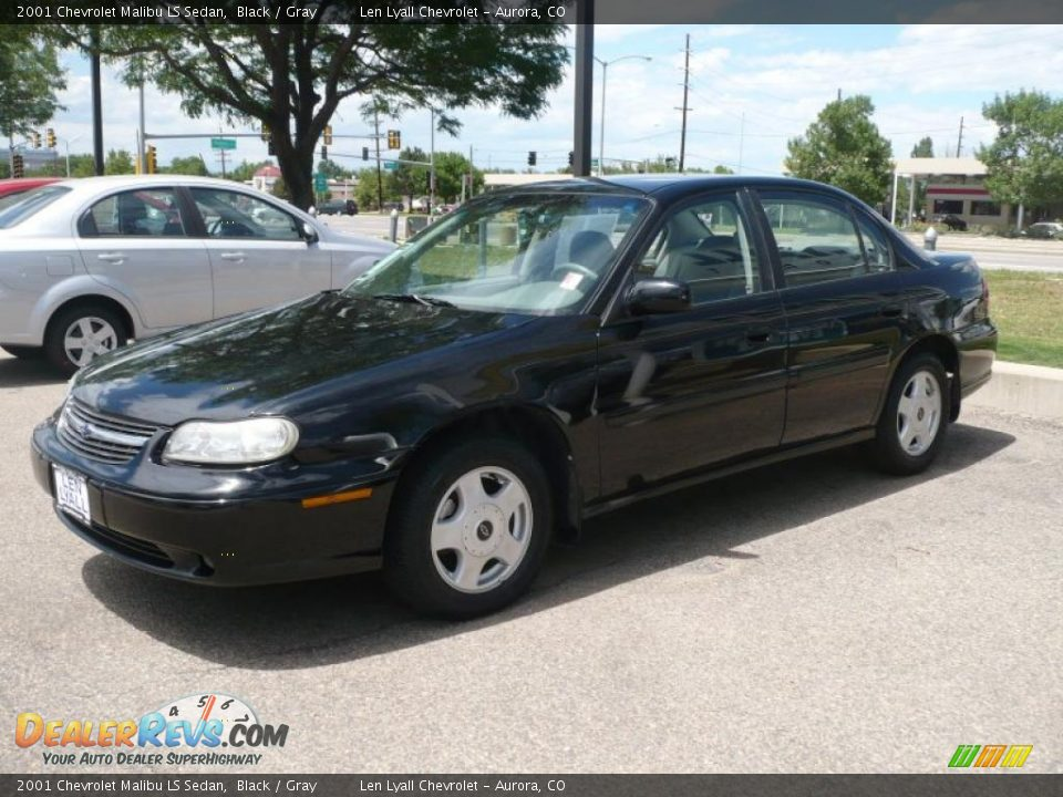 2001 chevrolet malibu ls sedan black gray photo 2. Black Bedroom Furniture Sets. Home Design Ideas