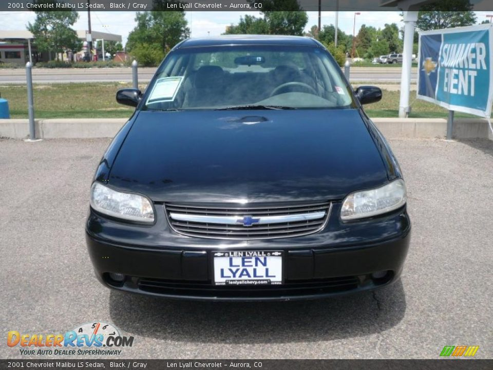 2001 chevrolet malibu ls sedan black gray photo 3. Black Bedroom Furniture Sets. Home Design Ideas