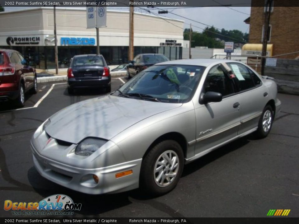 2002 pontiac sunfire se sedan ultra silver metallic. Black Bedroom Furniture Sets. Home Design Ideas