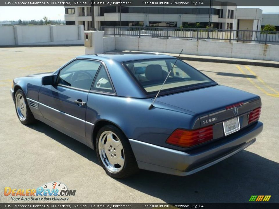 1992 mercedes benz sl 500 roadster nautical blue metallic for 1992 mercedes benz sl500