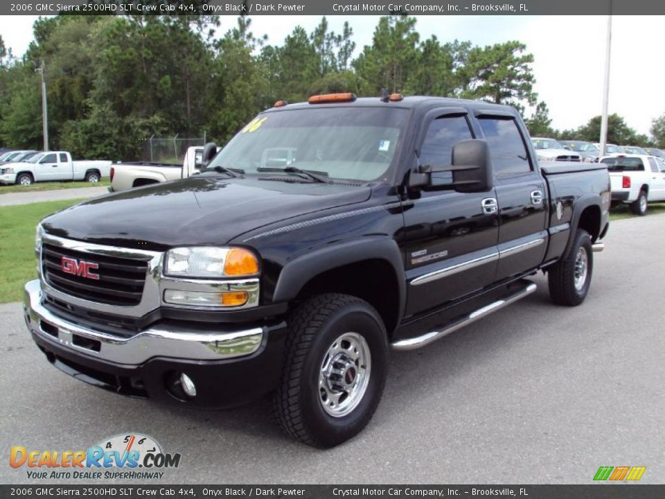 2006 gmc sierra 2500hd slt crew cab 4x4 onyx black dark. Black Bedroom Furniture Sets. Home Design Ideas