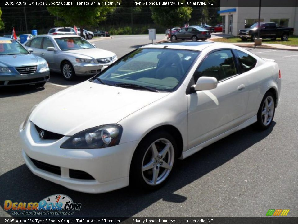 2005 Acura RSX Type S Sports Coupe Taffeta White / Titanium Photo #1 ...