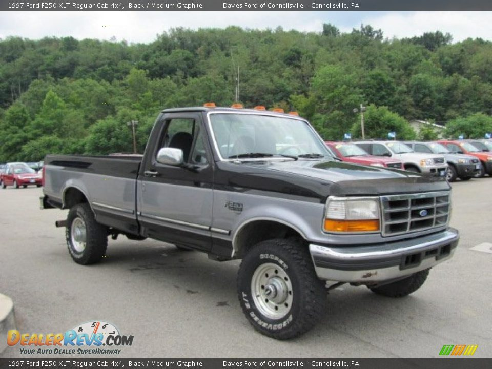 1997 ford f250 xlt regular cab 4x4 black medium graphite photo 5. Black Bedroom Furniture Sets. Home Design Ideas