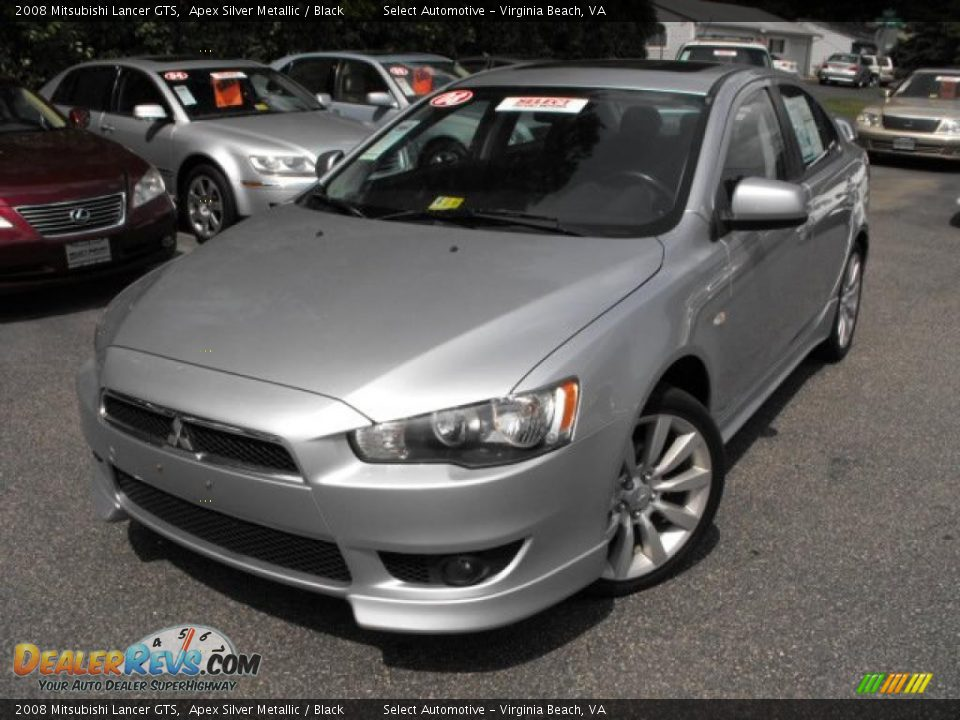 2008 mitsubishi lancer gts apex silver metallic black. Black Bedroom Furniture Sets. Home Design Ideas