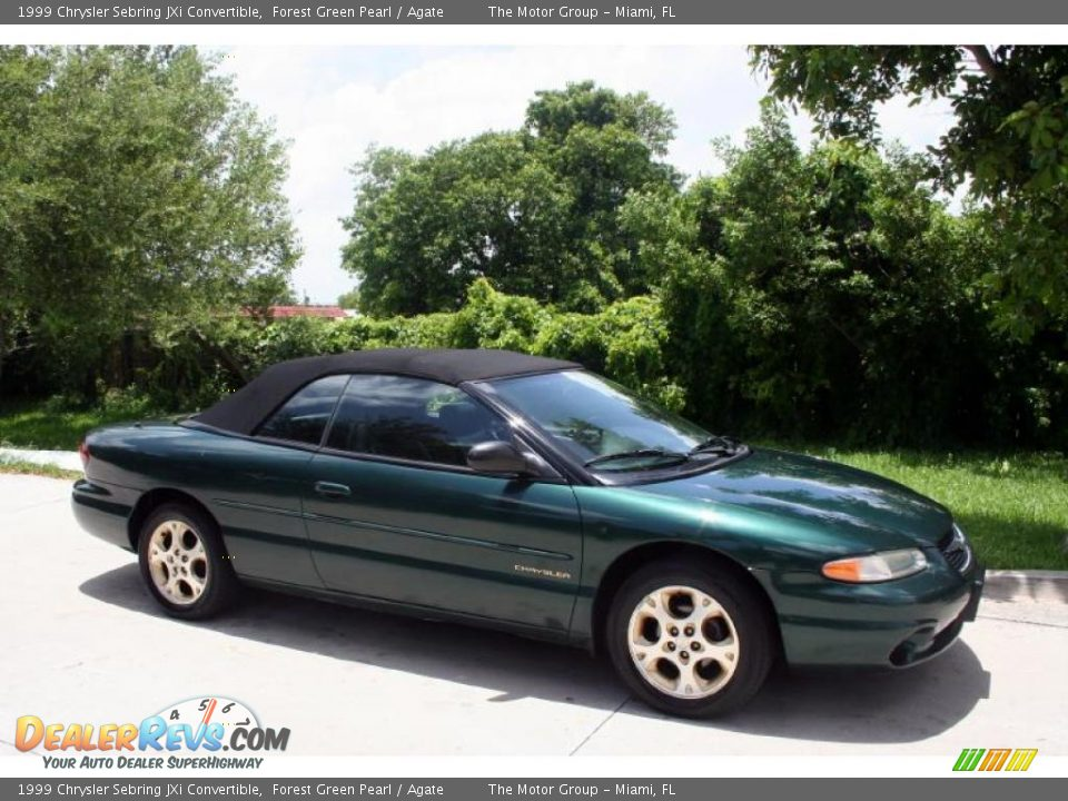1999 chrysler sebring jxi convertible forest green pearl. Black Bedroom Furniture Sets. Home Design Ideas