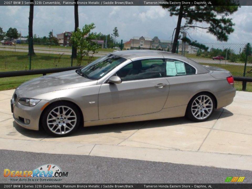 2007 BMW 3 Series 328i Convertible Platinum Bronze Metallic / Saddle Brown/Black Photo #15 ...