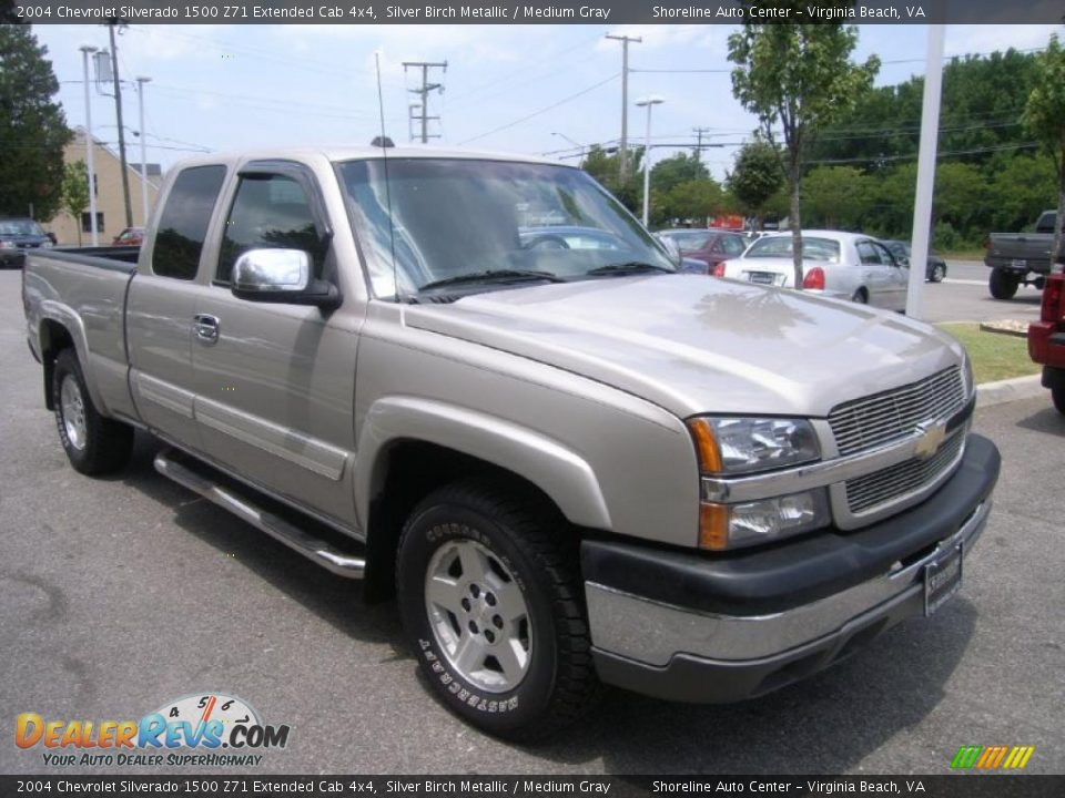 2004 chevrolet silverado 1500 z71 extended cab 4x4 silver. Black Bedroom Furniture Sets. Home Design Ideas