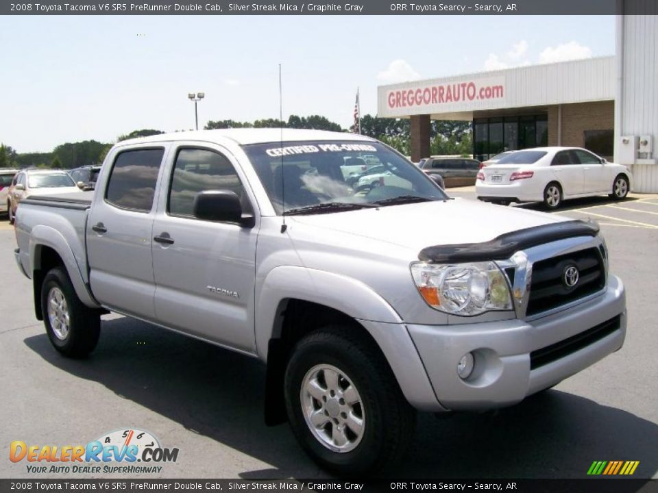 2008 toyota tacoma v6 sr5 prerunner double cab silver streak mica graphite gray photo 1. Black Bedroom Furniture Sets. Home Design Ideas