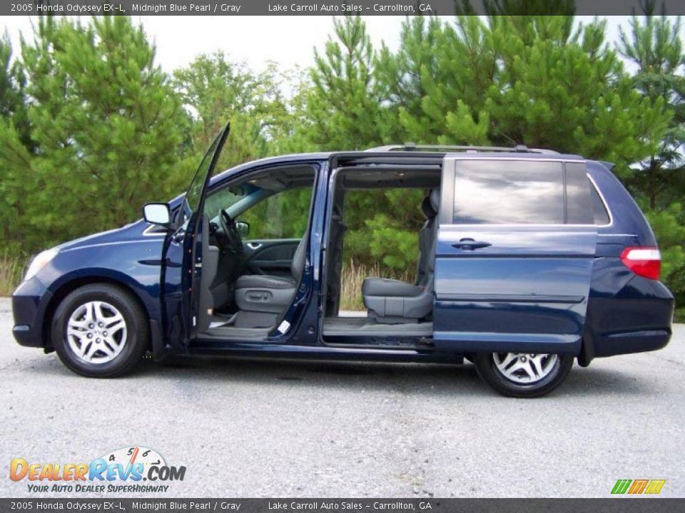 2005 Honda Odyssey EX-L Midnight Blue Pearl / Gray Photo #14 ...