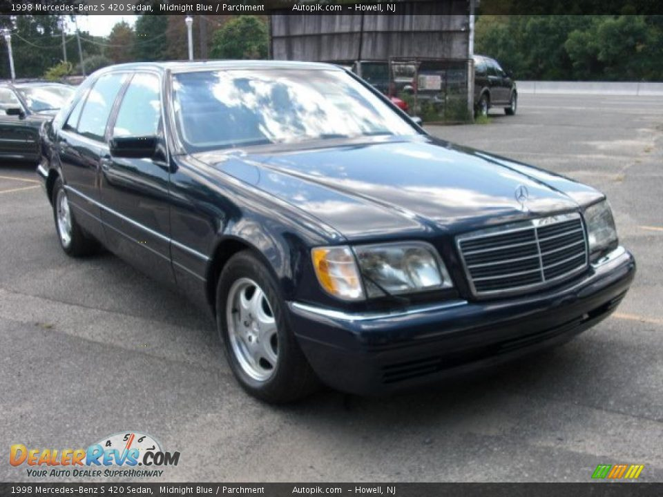 1998 mercedes benz s 420 sedan midnight blue parchment for Mercedes benz s 420
