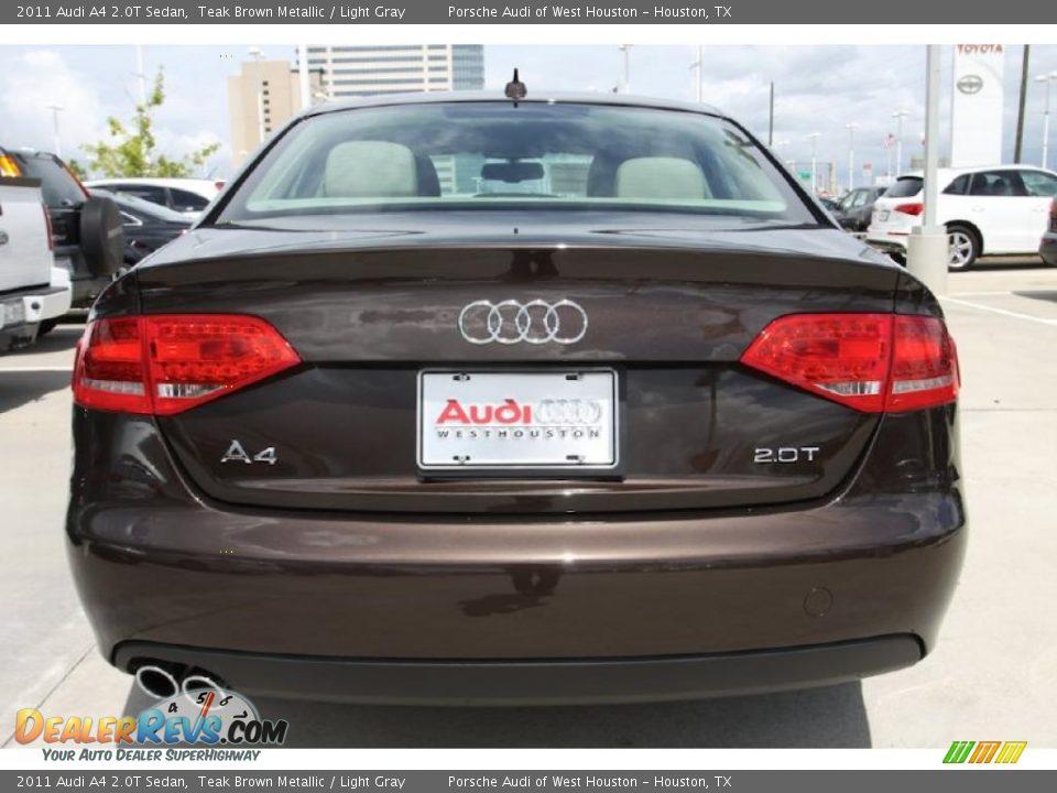 2011 Audi A4 2 0t Sedan Teak Brown Metallic Light Gray