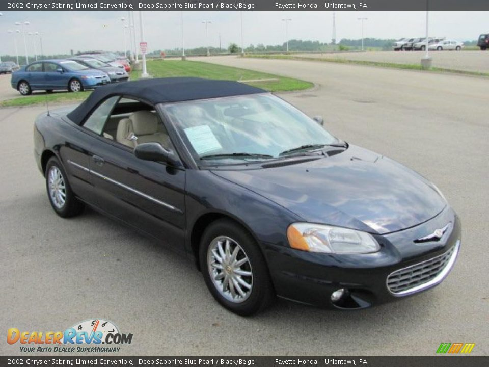 2002 chrysler sebring limited convertible deep sapphire blue pearl. Cars Review. Best American Auto & Cars Review